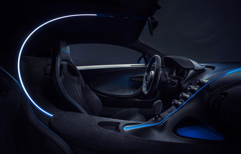 Photo wallpaper Bugatti, salon, hypercar, Chiron, 2020, Pur Sport