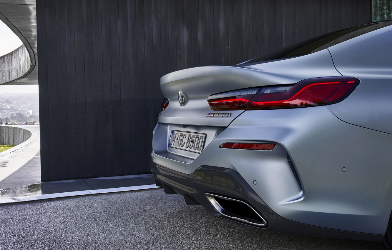 Photo wallpaper coupe, BMW, Gran Coupe, the rear part, the corner of the house, 8-Series, 2019, the …