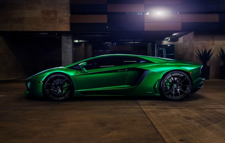Wallpaper Green Lamborghini Coupe Aventador Whells Wallpaeprs