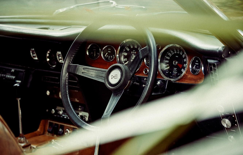 Photo wallpaper the wheel, car, dashboard, Christoffer Rudquist, Aston Martin DB