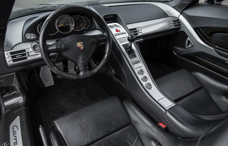 Photo wallpaper black, Porsche, supercar, salon, Carrera GT