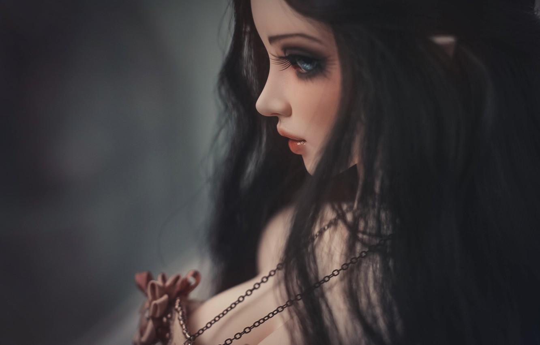Photo wallpaper hair, doll, profile