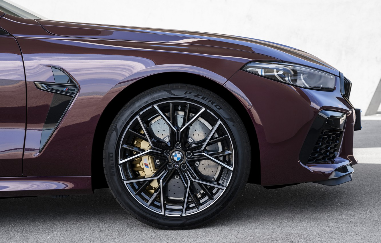 Photo wallpaper coupe, wheel, BMW, 2019, M8, the four-door, M8 Gran Coupe, M8 Competition Gran Coupe, F93