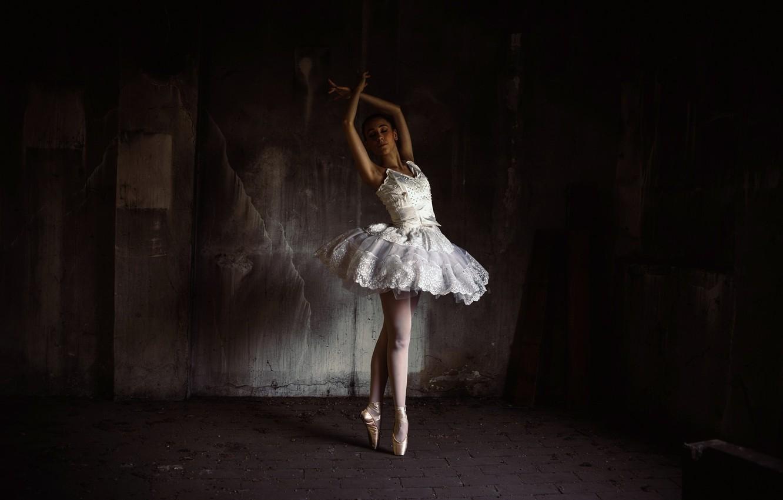 Photo wallpaper girl, pose, ballerina