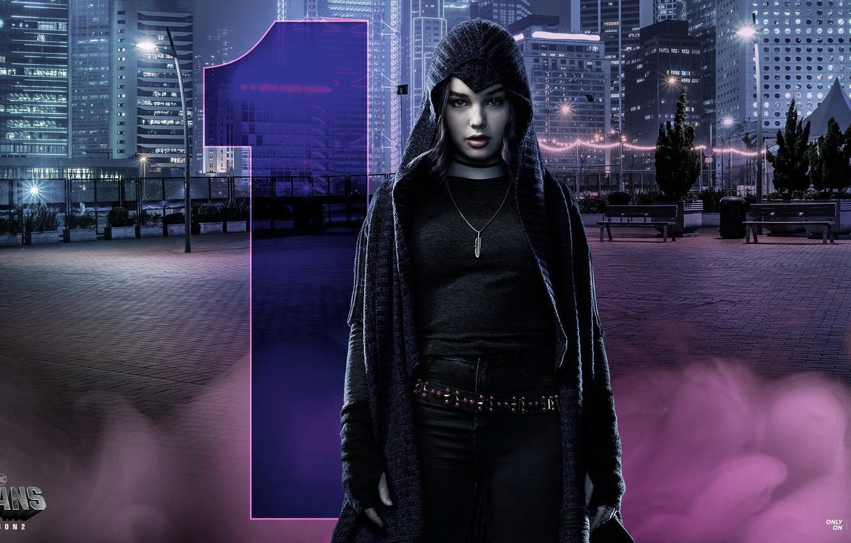 Photo wallpaper the series, serial, Raven, season 2, The titans, DC Universe, Raven, Titans, Teagan Croft, Tegan …