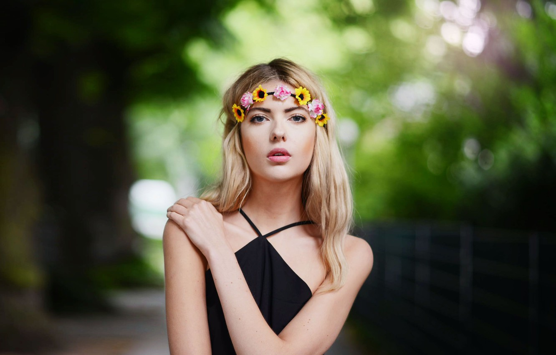 Photo wallpaper Girl, Look, Blonde, Model, Girl, Model, Beauty, Blonde, Beautiful, Look, Ebba Zingmark, Wreath, Ebba Of …