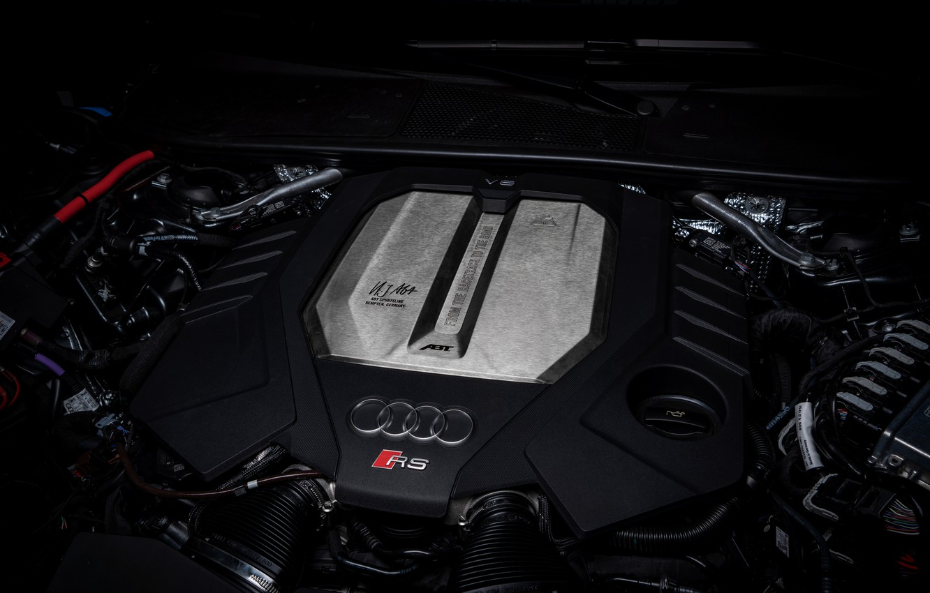 Photo wallpaper Audi, engine, cover, ABBOT, universal, TFSI, RS 6, 2020, RS6-R, V8 Twin-Turbo, RS6 Avant, 4.0 …