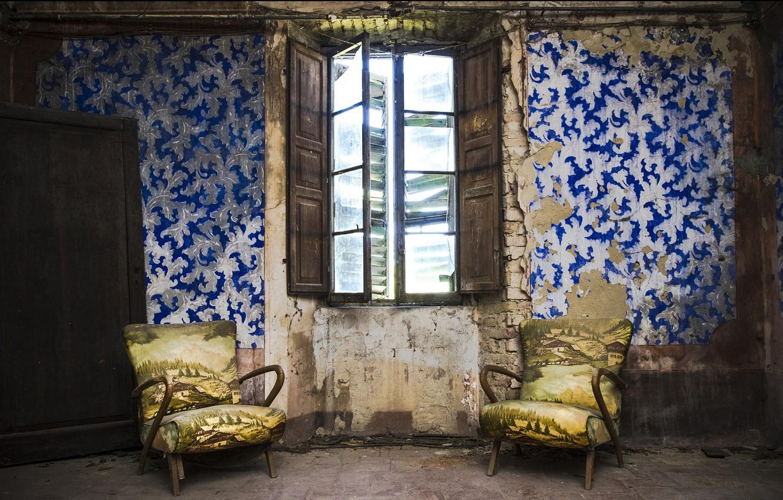 Photo wallpaper chair, window, naturalism