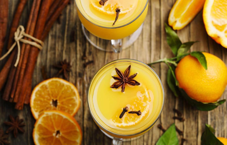 Photo wallpaper orange, cinnamon, lemonade, Anis