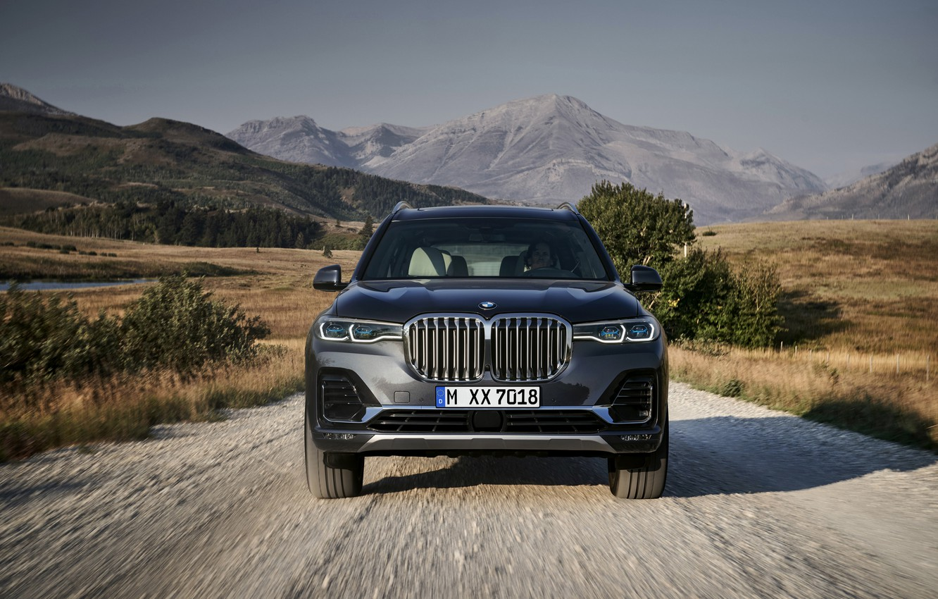 Photo wallpaper road, BMW, before, 2018, crossover, SUV, 2019, BMW X7, X7, G07