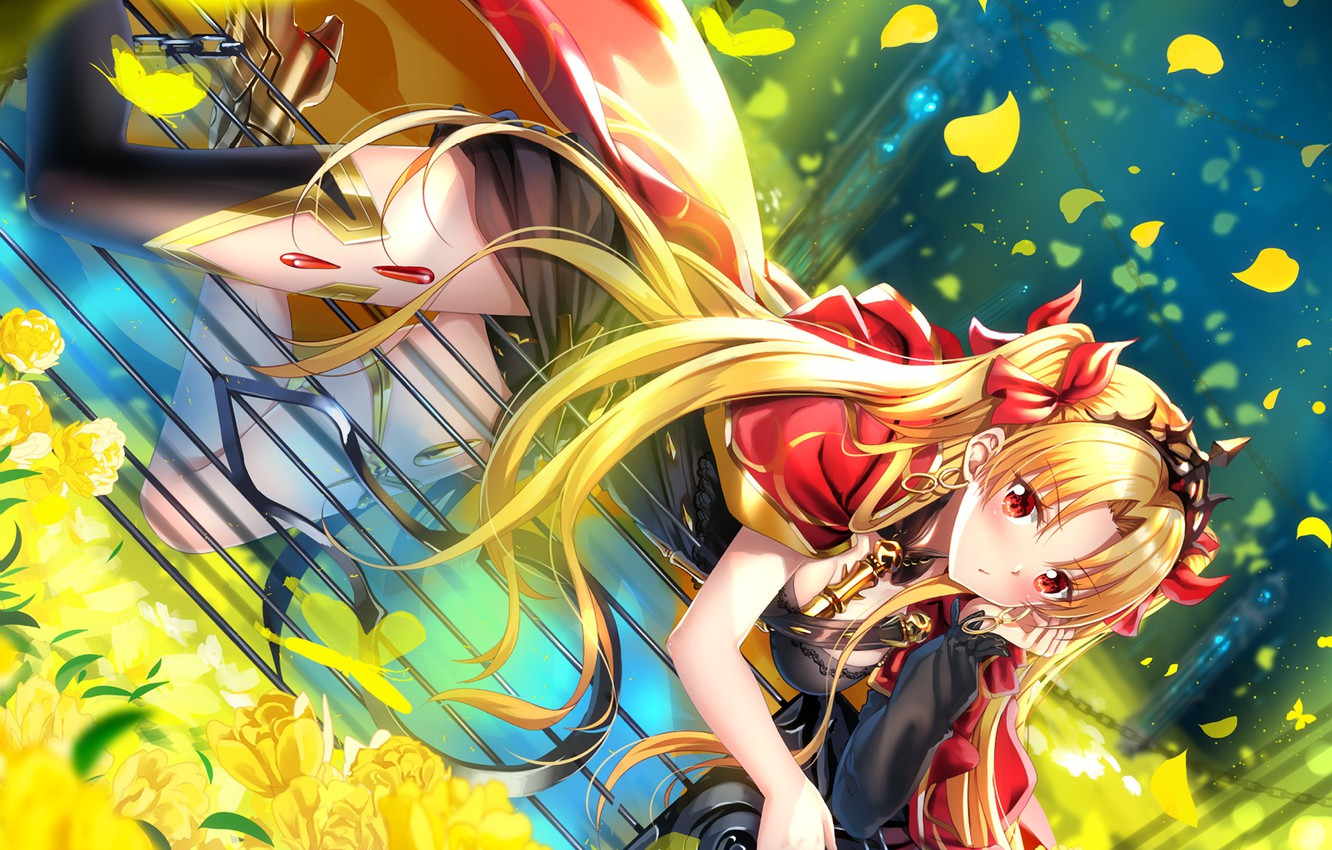 Photo wallpaper girl, flowers, petals, Fate / Grand Order, The destiny of a great campaign