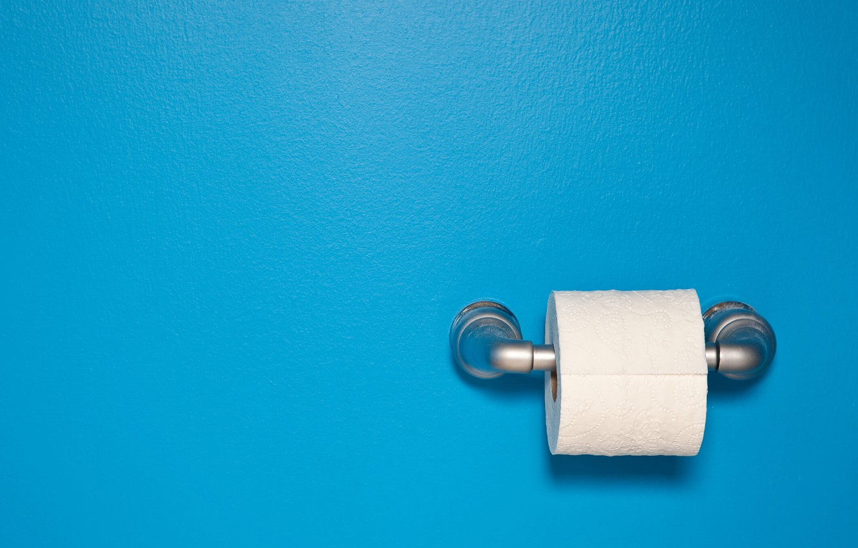 Photo wallpaper minimalism, blue background, simple background, Toilet Paper