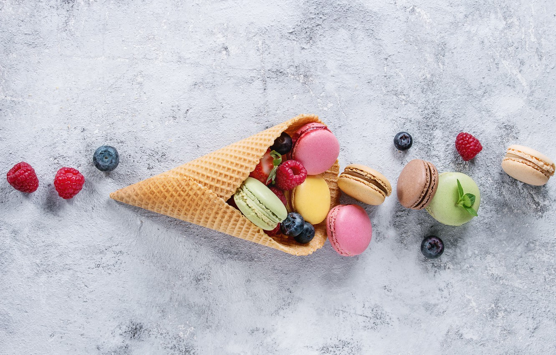 Photo wallpaper berries, colorful, flowers, fruit, berries, macaroons, macaron, macaroon