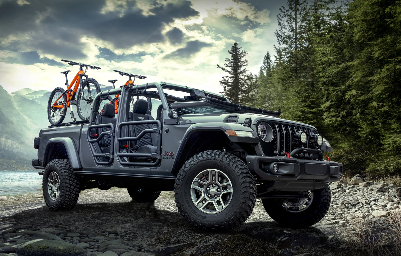 Photo wallpaper Gladiator, Jeep, Rubicon, Mopar, 2020, 2020 Mopar Jeep Gladiator Rubicon, Jeep Gladiator Rubicon