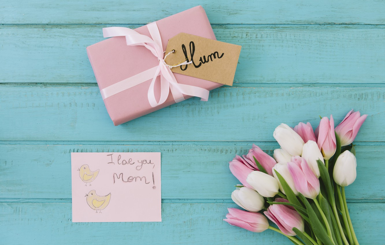Wallpaper Gift The Inscription Bouquet Mom Mothers Day