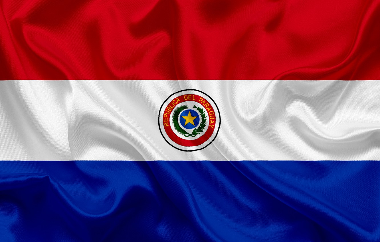 Photo wallpaper background, flag, coat of arms, fon, flag, Paraguay, Paraguay, paraguay, coat of arms, Paraguay, the …