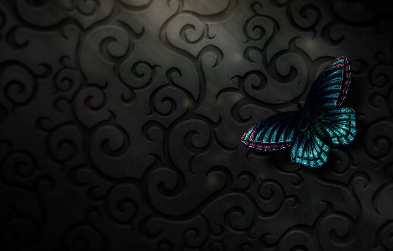 Photo wallpaper butterfly, digital, art, butterfly, texure