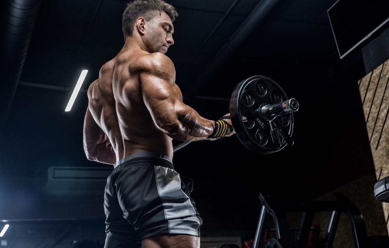 Wallpaper power, pose, back, fitness, gym images for desktop, section  мужчины - download