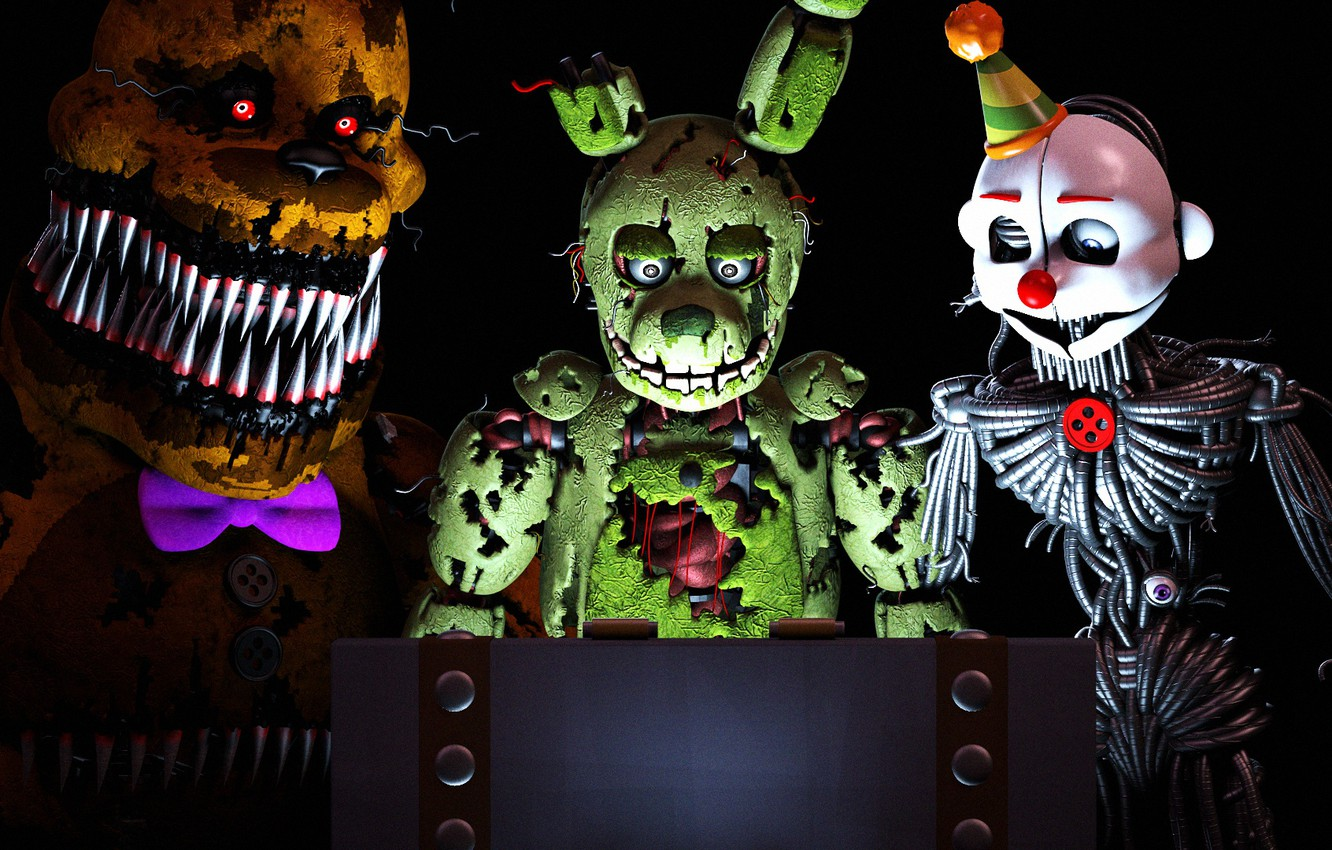 Photo wallpaper light, the game, doll, Five Nights at Freddy's, mechanical dolls