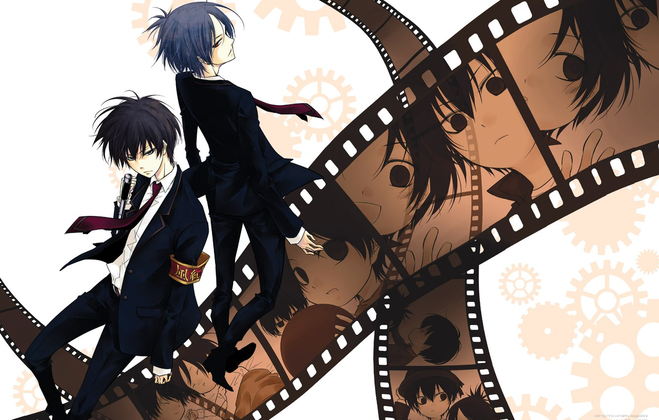 Wallpaper Tape Frames Rakudo Mukuro Katekyo Hitman Reborn Hibari Kyoya Teacher Mafia Reborn Images For Desktop Section Syonen Download