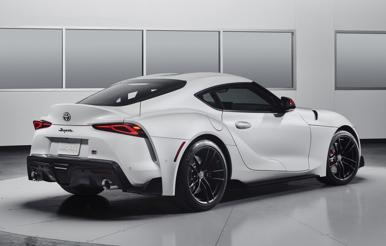 Photo wallpaper Toyota, rear view, Supra, Launch Edition, 2019, Toyota GR Above, GR Above