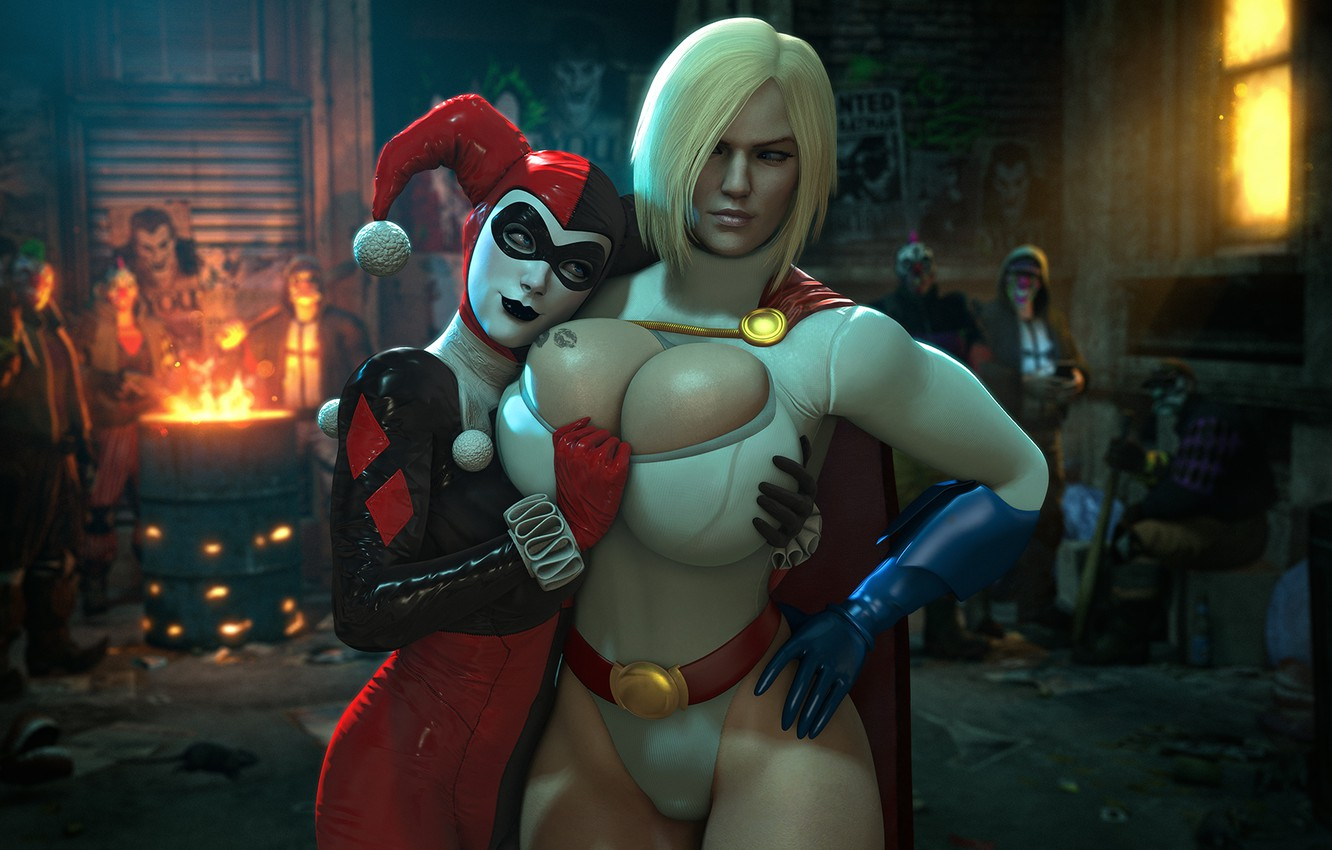 Photo wallpaper chest, girl, body, Tits, harley quinn, DC Comics, Power Girl, Karen Starr, Kara Zor-L