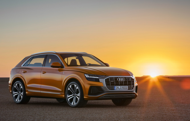 Photo wallpaper sunset, Quattro, 2018, crossover, S-Line, 50 TDI, Audi Q8