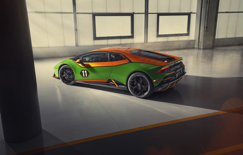 Photo wallpaper machine, Lamborghini, lights, supercar, Evo, Huracan, GT Celebration