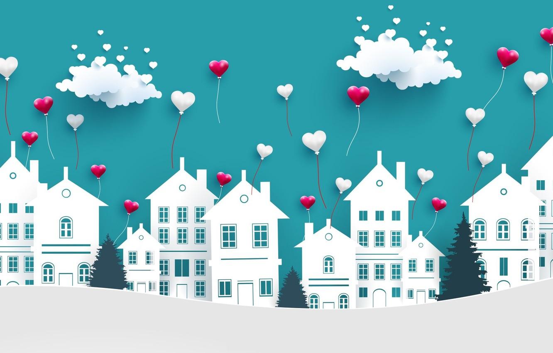 Photo wallpaper love, background, hearts, Valentine's day