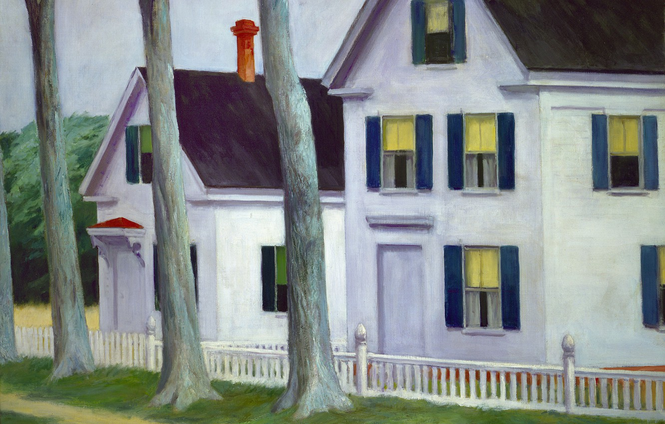 Photo wallpaper 1945, Edward Hopper, Two Puritans