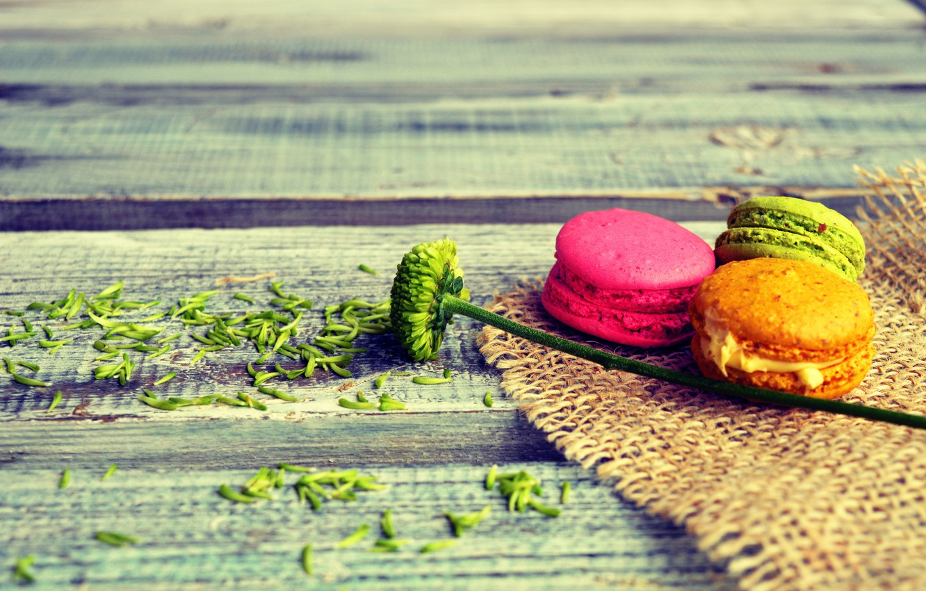 Photo wallpaper colorful, dessert, sweet, sweet, dessert, cookies, macaron, almond, macaroon