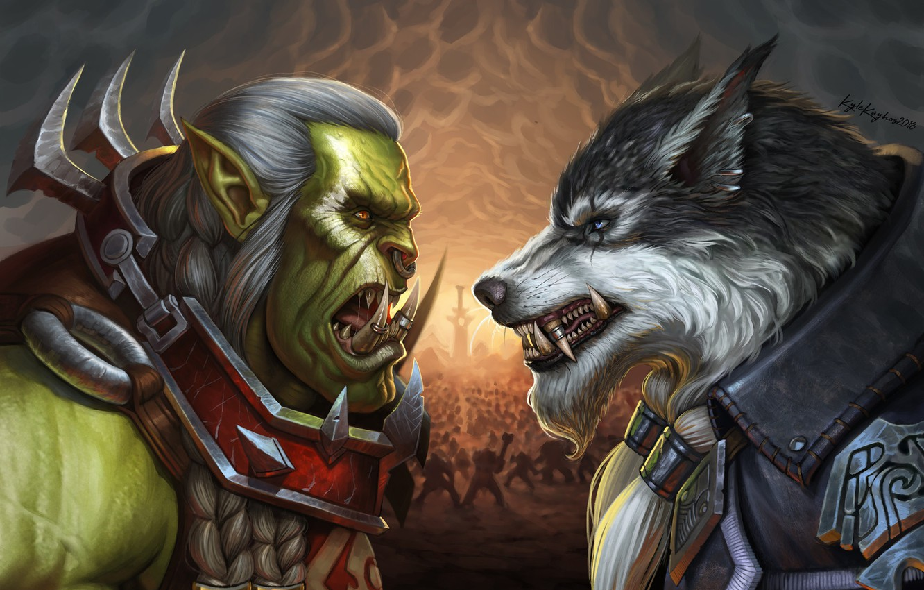 Photo wallpaper Blizzard, Art, WarCraft, Illustration, Fanart, Characters, Game Art, Greymane, World of WarCraft, Kyle Herring, by ...