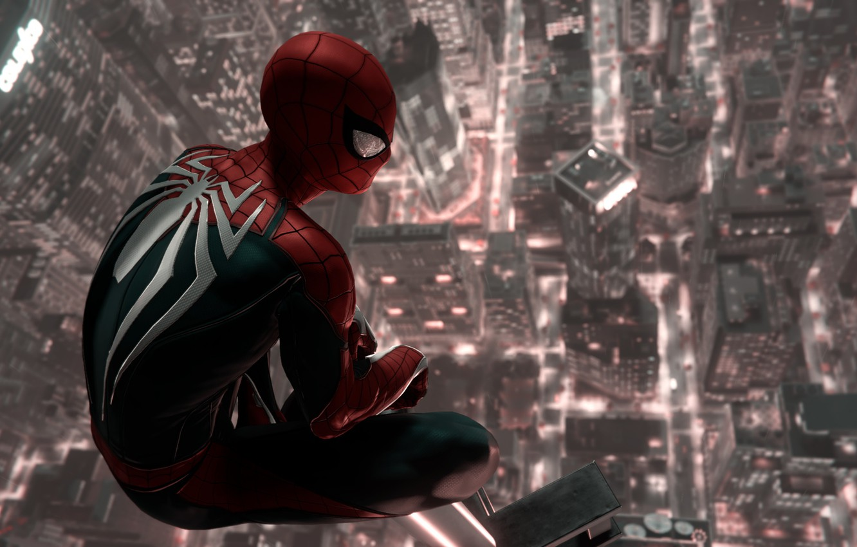Wallpaper New York Game Peter Parker Spider Man Ps4