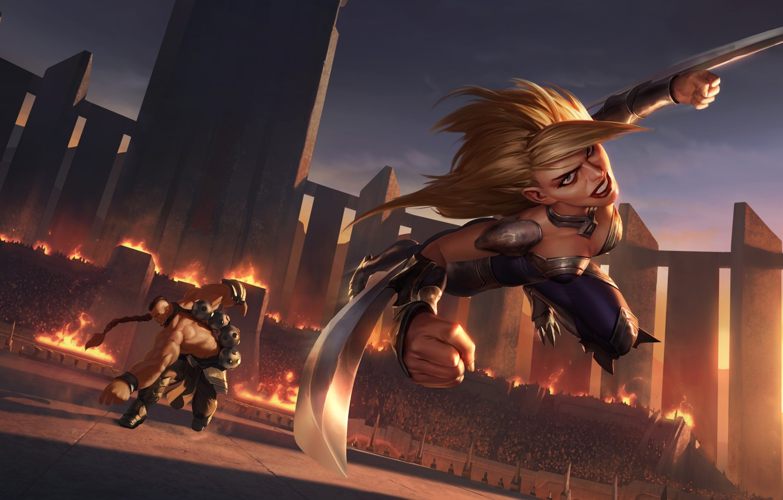 Wallpaper Girl Movement Knife Legends Of Runeterra Images For Desktop Section Igry Download