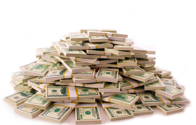 Photo wallpaper money, dollar, currency, bills, fon, packs, dollar, a lot of money