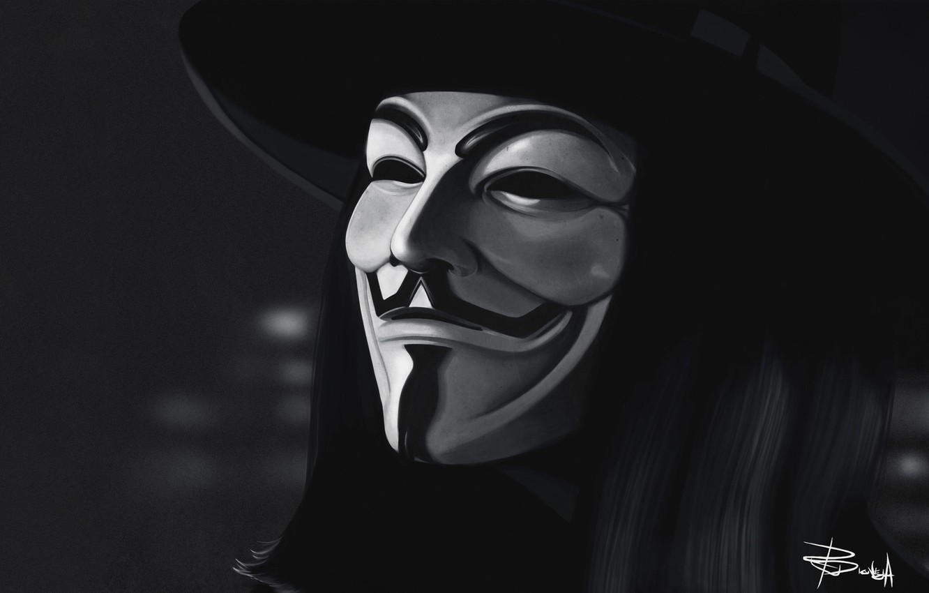 Black Anonymous Mask Wallpaper The Champion Wallpapers