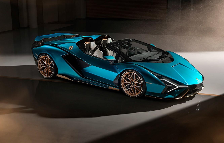 Photo wallpaper lamborghini, supercar, Lamborghini Sian Roadster