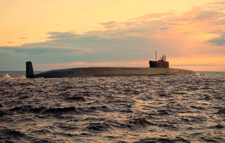 Photo wallpaper underwater, cruiser, atomic, Prince Vladimir