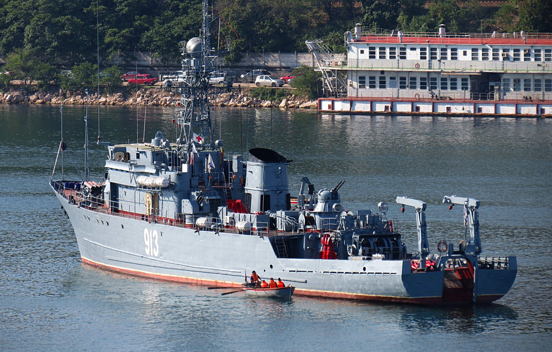 Photo wallpaper sea, service, minesweeper, Kovrovets