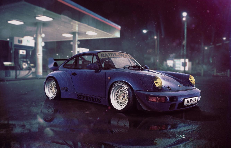 Wallpaper Auto Night Blue Porsche Machine Nfs Dressing