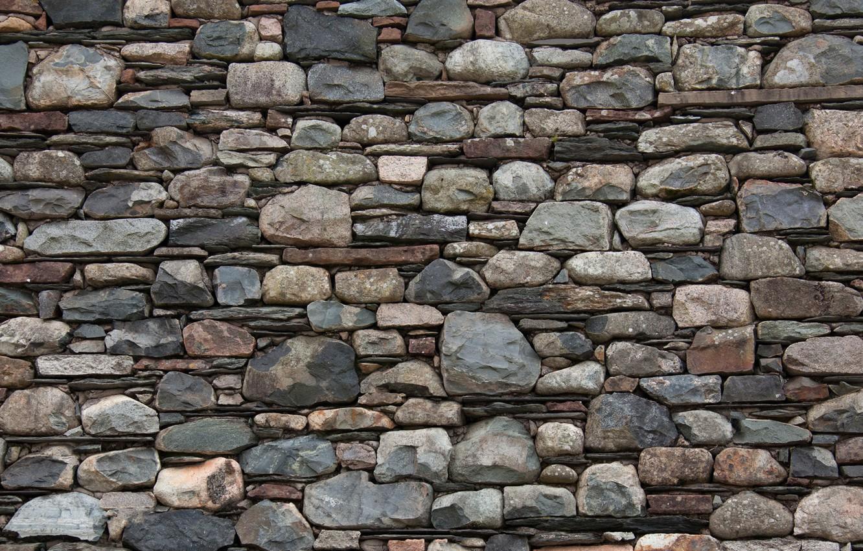 Photo wallpaper wall, stone, texture, masonry