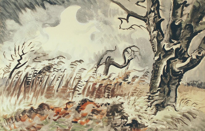 Photo wallpaper 1950, Charles Ephraim Burchfield, November Storm