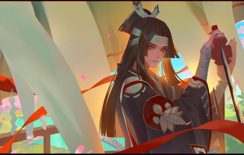 Photo wallpaper katana, warrior, art, LY 炼 妖, Ghost cut