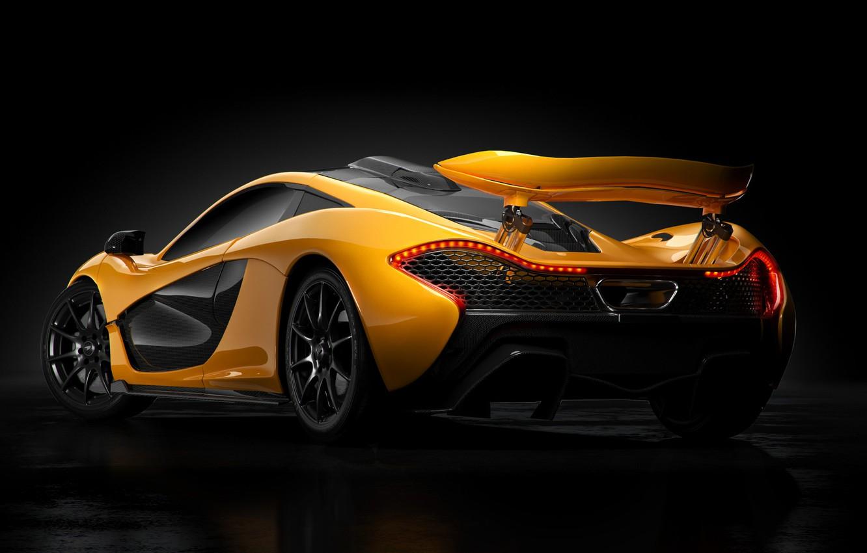 Photo wallpaper Auto, Machine, Orange, Car, Art, Render, Design, Supercar, Supercar, Sports car, Sportcar, Mclaren P1, Transport …