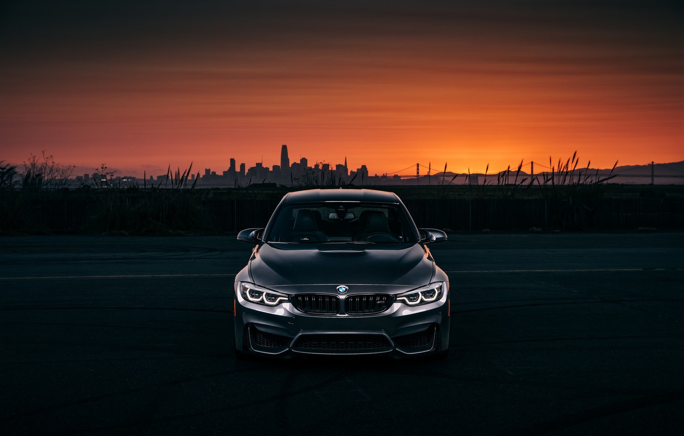 Photo wallpaper BMW, Light, Evening, Silver, F80, LED