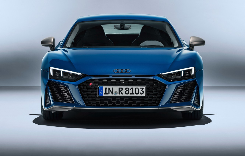 Photo wallpaper Audi R8, front view, V10, 2019