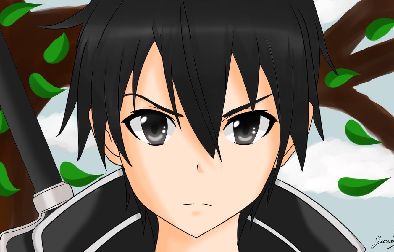 Photo wallpaper look, anime, art, guy, Sword Art Online, Kirito, Sword Art Online