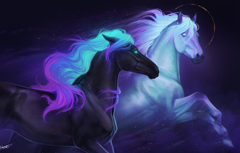 Photo wallpaper figure, horse, beautiful