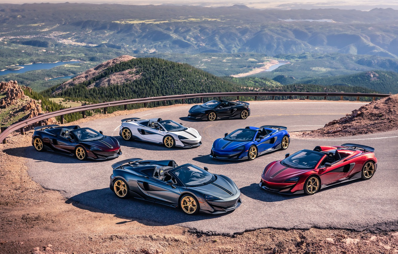 Photo wallpaper McLaren, supercar, Spyder, supercars, Pikes Peak, MSO, 2019, 600LT