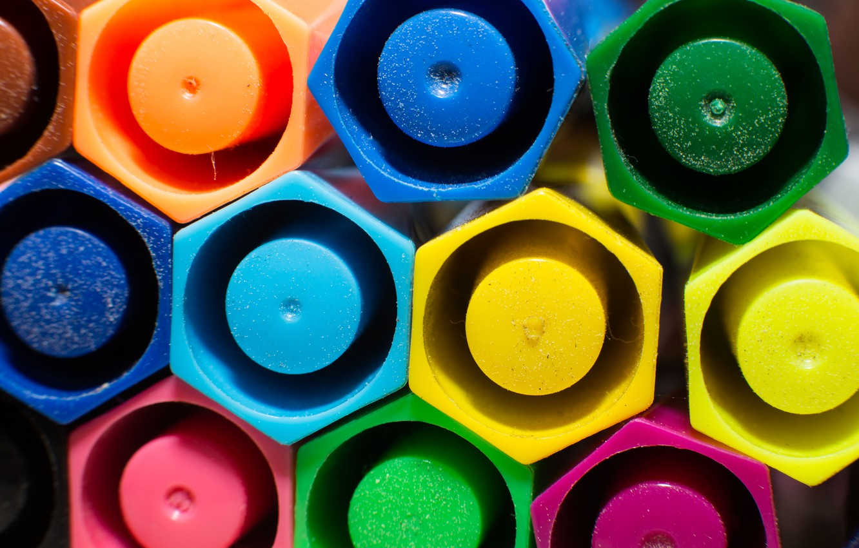 Photo wallpaper macro, color, geometry, figure, beehive, markers